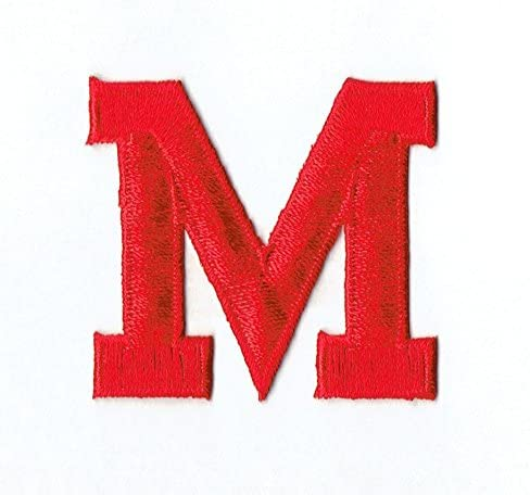 Alphabet Letter - M Color Red Embroider Inch Block Bombing Direct sale of manufacturer new work Style 2