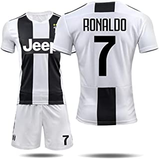 GLJJQMY T-Shirt Short-Sleeved Shorts Juventus Jersey 18-19c Luo 7 Training Suit Jersey Football Basketball t-Shirt (Color : C, Size : L)