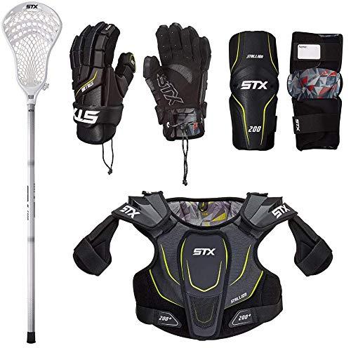 STX Lacrosse Boys Lacrosse Junior Starter Set, Small, Black