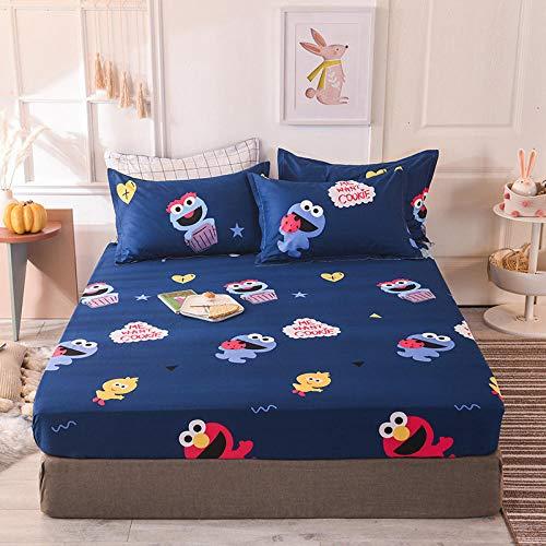 HPPSLT Protector de colchón - cubrecolchón Transpirable Sábana de Cama Individual 100% algodón Full Cover-5_120 * 200cm