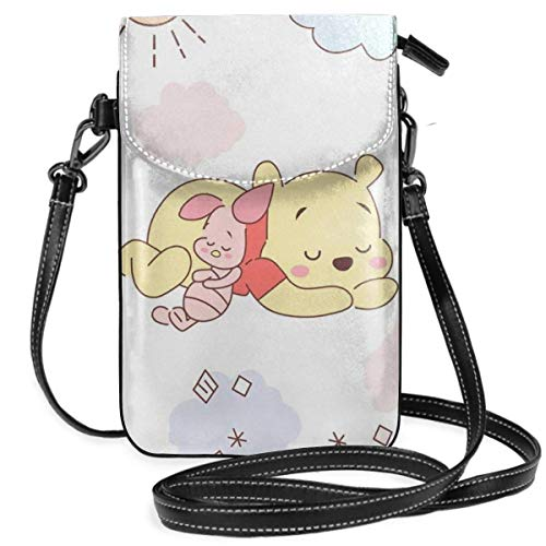 Lsjuee Womens Crossbody Bags Winnie The Pooh Small Cell Phone Purse Wallet with Credit Card Slots