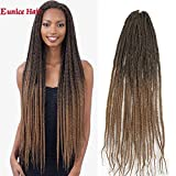 Eunice 30 Inch 22Strands 6Packs Senegalese Twist Box Braids Crochet Hair Extensions 120g Ombre Brown Synthetic 3S Crochet Braids(T1B/27)