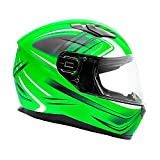 Typhoon Full Face Motorcycle Helmet DOT Certified - SAME DAY SHIPPING (Matte Green, Adult 3XL)