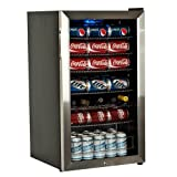 EdgeStar 103 Can and 5 Bottle Supreme Cold Beverage Cooler - Stainless Steel