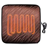 Nuevo asiento con calefacción USB para coche, cojín de 12 V, calentador de silla, funda de asiento con calefacción, protector antideslizante calefac(brown)