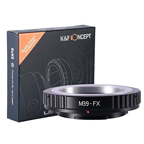 K&F Concept M39/L39 Objektivadapter mit SLR Gewinde an Fuji X-Series X-Pro1 FX Fuji X Mount Mirrorless wie Fuji XT2 XT20 XE3 XT1 X-T2