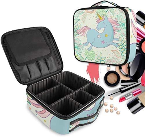 Cosmétique HZYDD Blossom Art Make Up Unicorn Sac Trousse de Toilette Zipper Sacs de Maquillage Organisateur Poche for Compartiment Femmes Filles Gratuit