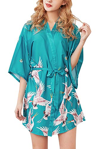 accappatoio donna fenicotteri YAOMEI Donna Kimono Vestaglia Pigiama Sleepwear