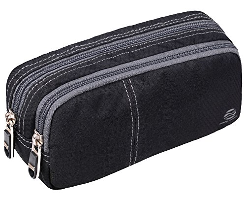 Large Pencil Case Organization Storage - Big Capacity Storage Pen Bag Pouch Holder Maker Stationery Organizer With Durable Zippers For Middle High School College Student Girls Boys Adu (Black-Upgrade)