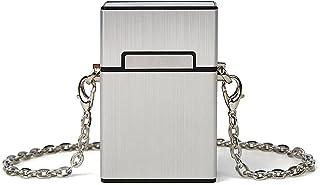 Generic Creative Chains Box Damen Umhängetaschen Designer Case Shape Umhängetasche Silber