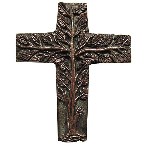 Wilde Bronzekreuz Bronze Kreuz Lebensbaum Haussegen Hochzeit 20 cm * 16 cm