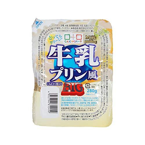 こんにゃくゼリー ヨコオデイリーフーズ 牛乳プリン風BIG 蒟蒻 280g 6個入