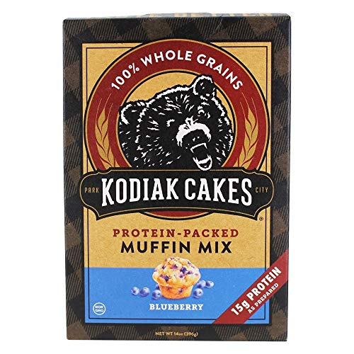 Kodiak Cakes Protein-Packed Muffin Mix Blueberry, 14 Ounce