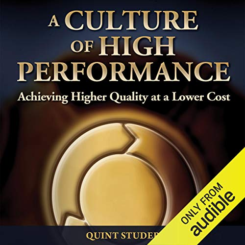 A Culture of High Performance audiobook cover art