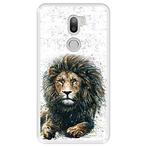 Hapdey Funda Transparente para [ Xiaomi Mi5s Plus - Mi 5s Plus ] diseño [ El león, Rey de la Selva ] Carcasa Silicona Flexible TPU