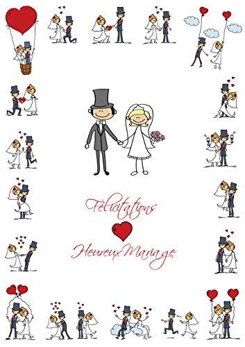 Carte de voeux drôle au mariage en français en grand format XXL/DIN A 4 (29 x 21 cm) avec enveloppe par EDITION COLIBRI (10686 FR)