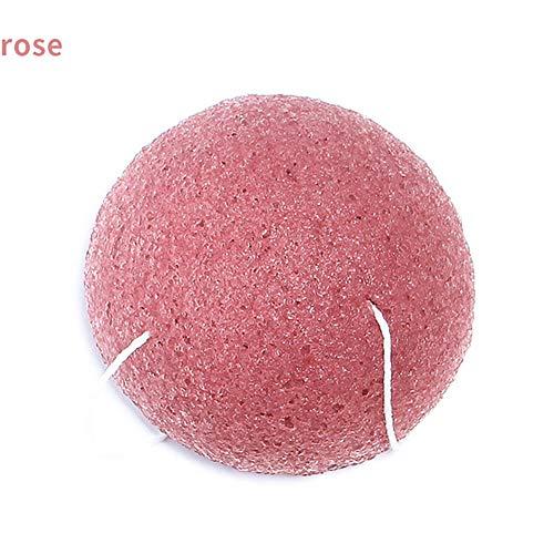 Beito 1pc Éponge Konjac Visage éponge 100% naturelle de nettoyage Gommage du visage, durable Idéal, végétalien pour Normal, peau sensible, peau grasse et acnéique(Rouge)