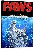 BOIPEEI Rompecabezas Rompecabezas 1000 Piezas Ocean Monster Cat Terror Puzzle Arte Moderno Familia Juegos de Interior Rompecabezas 50X75Cm
