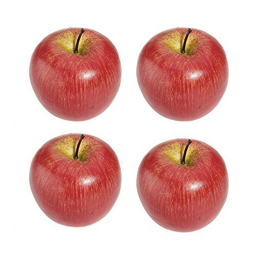 Gesh 4 große künstliche rote Äpfel,...