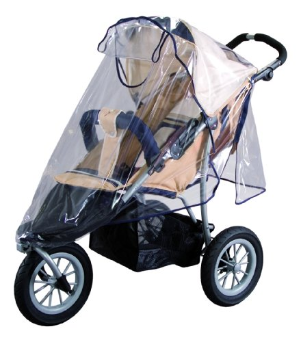 sunnybaby 10083 - Universal Regenverdeck, Regenschutz für Jogger, Sportwagen, Shopper, Buggy mit Dach, Kinderwagen | praktisches Kontaktfenster | optimale Luftzirkulation | PREMIUM QUALITÄT