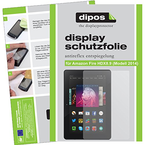 dipos I 3X Protector de Pantalla Mate Compatible con Amazon Fire HDX 8.9 (Modell 2014) pelicula Protectora
