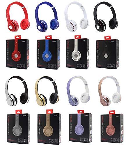 Auriculares Bluetooth Deporte Auriculares inalámbricos con Micrófono de Radio de la Ayuda FM TF Tarjeta de Juego Deporte Auriculares Estéreo (Rojo)