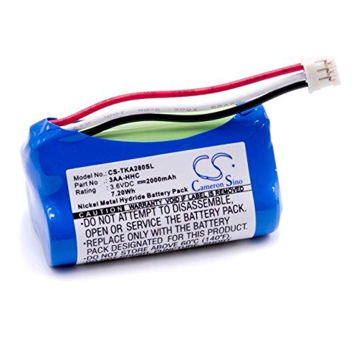vhbw Akku passend für TDK Life on Record A28, A28 Trek Flex Bluetooth Lautsprecher ersetzt 3AA-HHC - (NiMH, 2000mAh, 3.6V) Ersatzakku, Batterie