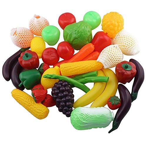 Black Temptation Simulation Alimentaire Cognitive Fruits et légumes Puzzle en Plastique Toys-40PCS