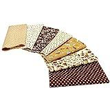 Asudaro - 7 hojas de algodón por metros, patchwork, para manualidades, telas cuadradas de algodón para coser, scrapbooking, flores, manualidades, scrapbooking, arte 25 x 25 cm