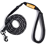 GEEPET Mountain Climbing Rope Dog Leads - Premium Quality - Supports The Strongest Pulling Large and Medium Sized Dogs 6 feet