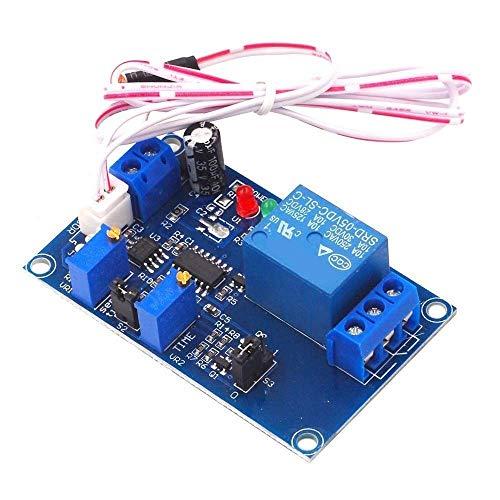 Yongenee Control de luz fotorresitores relé de retardo módulos 12V del Interruptor de detección Ajustable Mate Punto Steuermodul Herramientas industriales