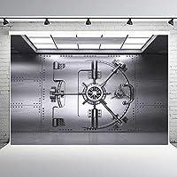 PHMOJEN バンク ボールト ゲート 写真撮影用背景 10x7フィート セキュリティデザイン フロントビュー背景 フォトブース スタジオ小道具 LYPH1202