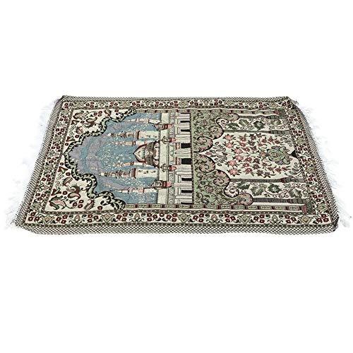 HEEPDD Gebetsteppich, 43,3 × 27,6 Zoll Moslemischer Baumwolle Teppich Dünne Art Moscheen Anbetung Liefert Reise Gebetsteppich Gebetsteppich Tragbare Einfache Gebetsteppich