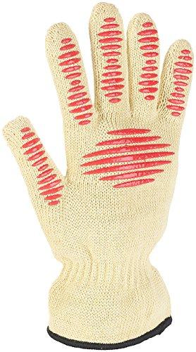 Rosenstein & Söhne Grillhandschuhe: 3in1-Sicherheits-Handschuh, Hitze- und Schnittschutz, Anti-Rutsch-Pads (Arbeitshandschuhe)