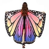 SERWOO Damen Schmetterling Kostüm Schmetterling Schal Flügel Tuch Schmetterlingsflügel Erwachsene...