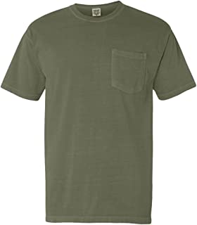 Comfort Colors 6.1 oz. Garment-Dyed Pocket T-Shirt-L (Moss)