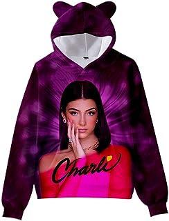 Charli DAmelio Hoodies Children Kawaii Cat Ears Charli D'amelio Sweatshirts women/girl's Autumn Winter kids Oversized