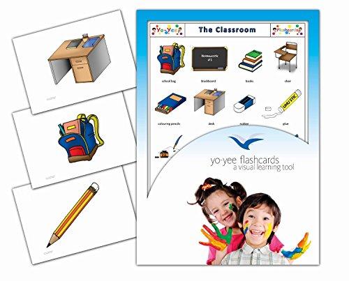 Classroom and Stationary Flashcards in English - Klassenraum - Bildkarten in Englisch für den Sprachunterricht