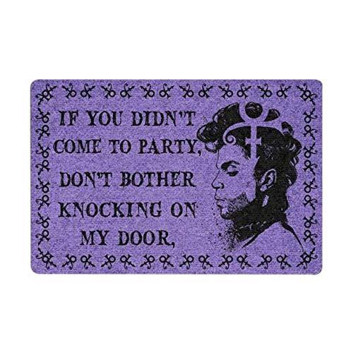 Prinz Fußmatte mit Briefen, wenn Sie Nicht zur Party gekommen sind, stören Sie Nicht das Klopfen an meiner Tür Retro Style Dekor Fußmatte