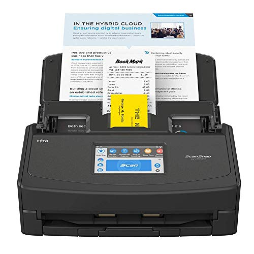 Fujitsu ScanSnap iX1500 Deluxe Color Duplex Document Scanner with Adobe Acrobat Pro DC for Mac or PC, Black