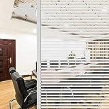Película para Ventanas de Rayas esmeriladas, Etiqueta de Vidrio estático de protección de privacidad 3D, Adecuada para la Sala de reuniones de la Oficina del baño del hogar C 60x100cm