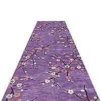 廊下敷きマット ランナー キッチンリビングルームのフロア玄関のための紫色の滑り止め廊下長いラグマット、洗える伝統プラム回廊ランナーカーペット、 (Size : 140×1000cm)