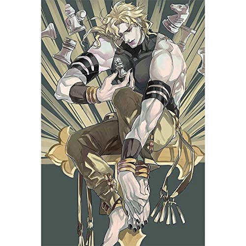Fascinating Wooden Puzzle JOJO's Bizarre Adventure, Japanese Anime Poster, Fine Cutting and Stitching, Boxed 300~500-piece Puzzle, Adult Decompression Children's Educational Jigsaw Games