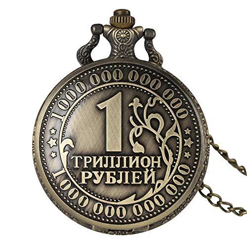 LEYUANA Reloj de Bolsillo Retro Antiguo de la Moneda del Bro