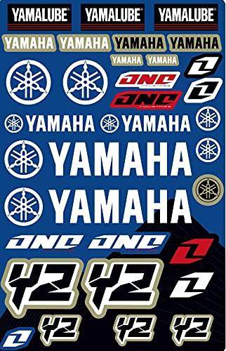 Kit DE Pegatinas COMPATIBLES para Casco Yamaha YZ YZF PATROCINADOR Motocicleta Cross Enduro (65)