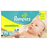 Pampers Swaddlers Disposable Diapers Newborn Size 0 ( 10 lb), 88 Count, SUPER