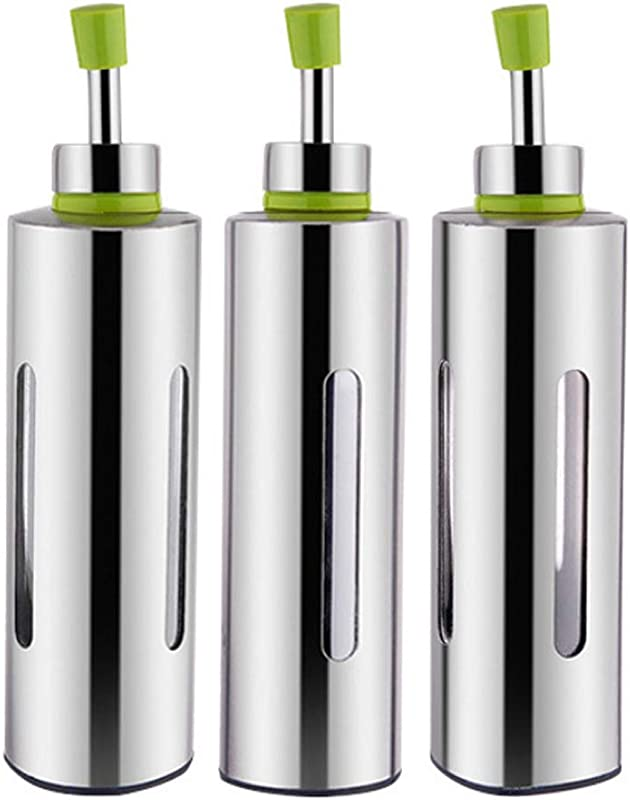 Stainless Steel Cruet Kitchen Household For Oil Soy Sauce Vinegar Cooking Wine Cruet Leakproof And Controllable 3