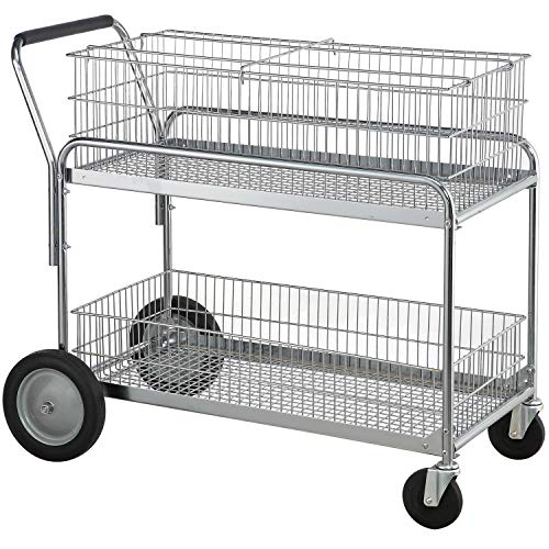 Standard Mail/Office File Cart, 200 Lb. Capacity