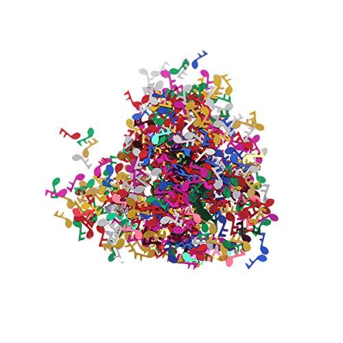 TOYANDONA 1 Pack 15g Note de Musique Confetti Table Confetti Décoration Articles de fête pour fête de la Musique Anniversaire Mariage Baby Shower (Col