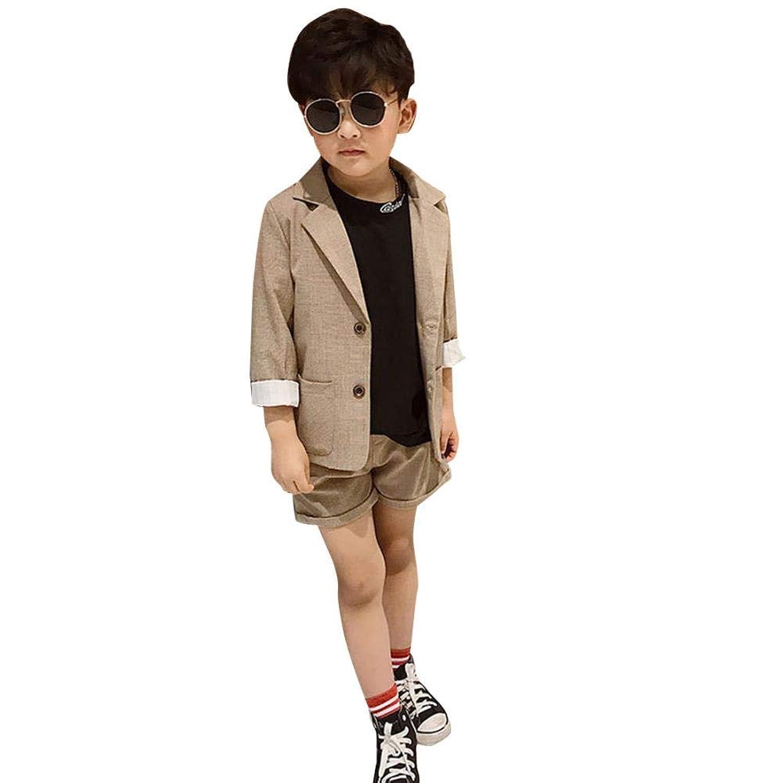 Getupp 子供服 男の子 フォーマルスーツ 子供スーツ 洋服 スーツ 男の子 2点セット ジャケット ズボン 無地 スリム 上質 七五三 卒園式 入園式 発表会 結婚式 入学式 お誕生日 おしゃれ ファッション 通学 春秋